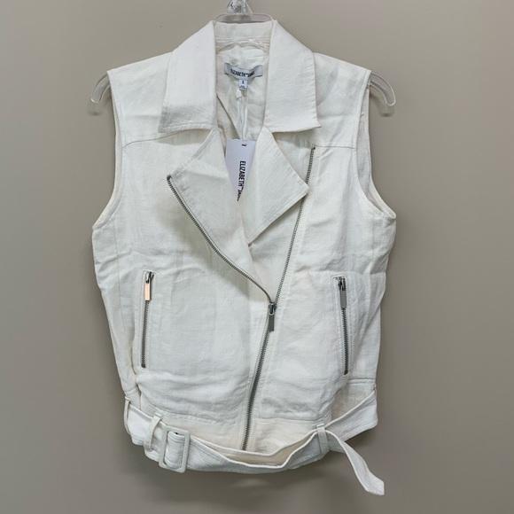 Elizabeth and James Jackets & Blazers - New Elizabeth and James Tegan Linen Biker Vest